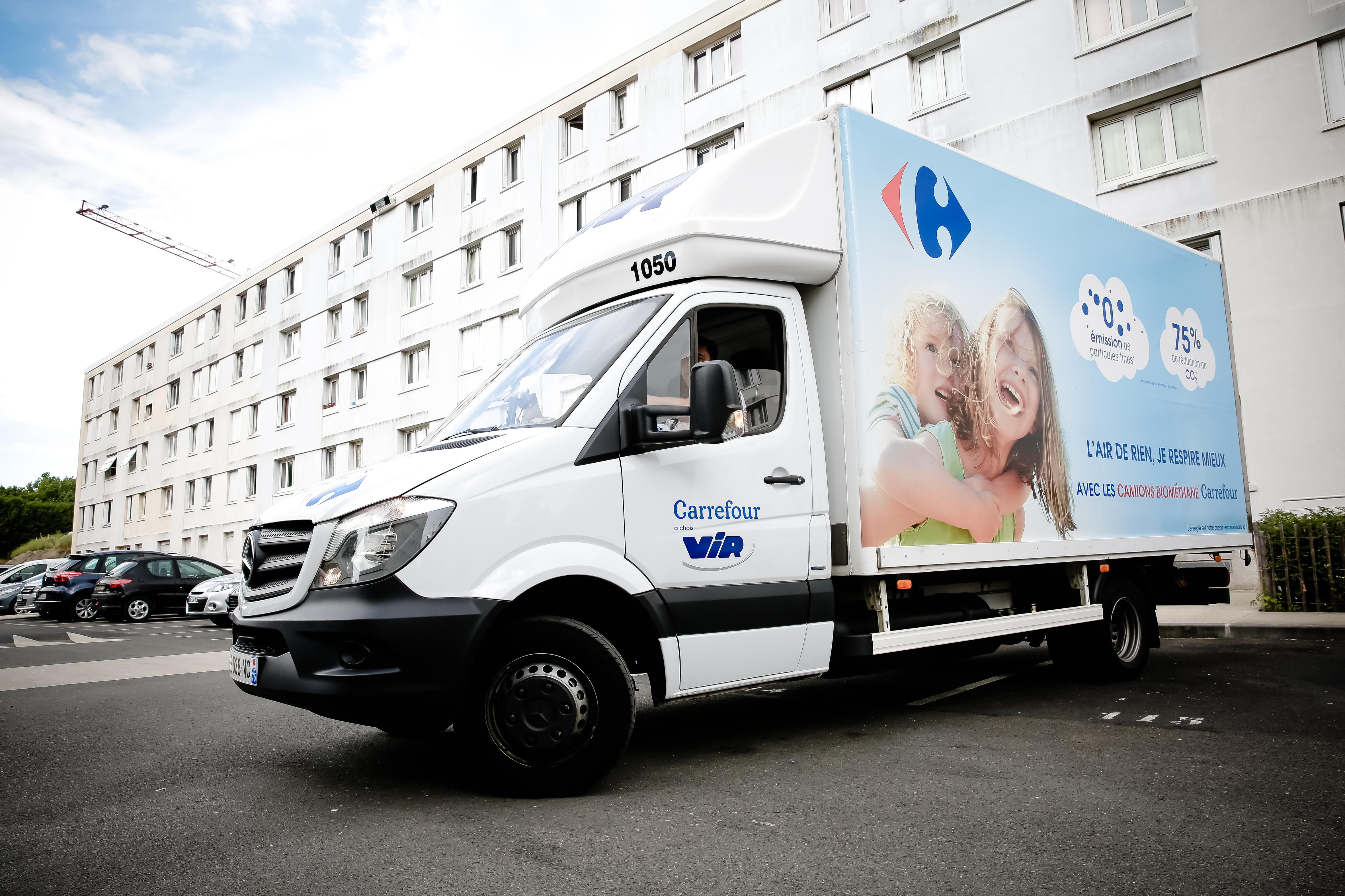 Le GNV : ça roule chez Carrefour