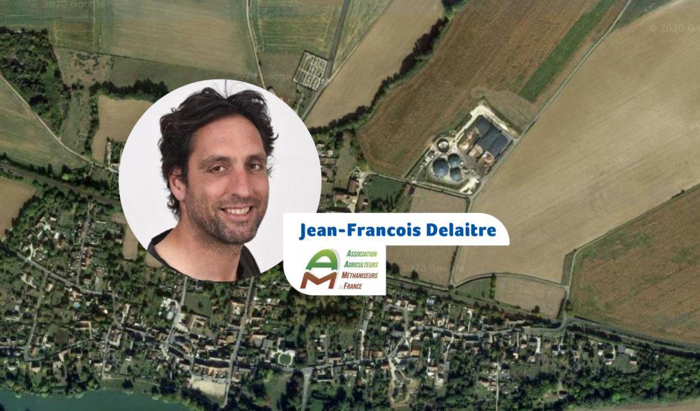 Jean-Francois Delaitre, nouveau président de l'Association des agriculteurs méthaniseurs de France