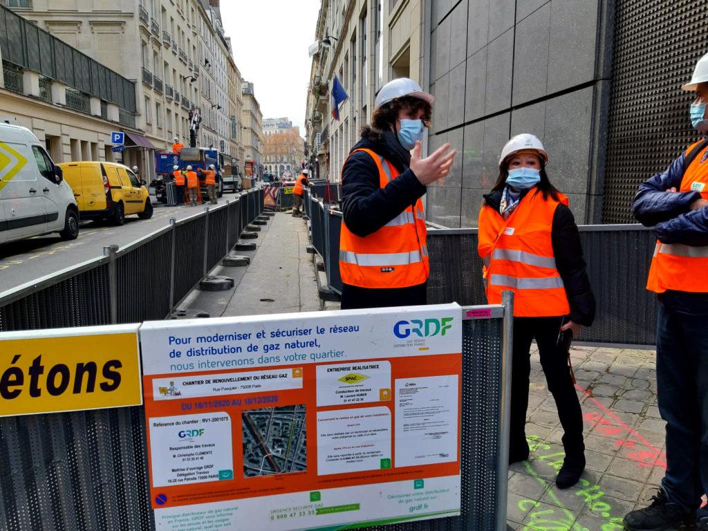 Visite de chantier des trvaaux de modernisation de réseau de gaz