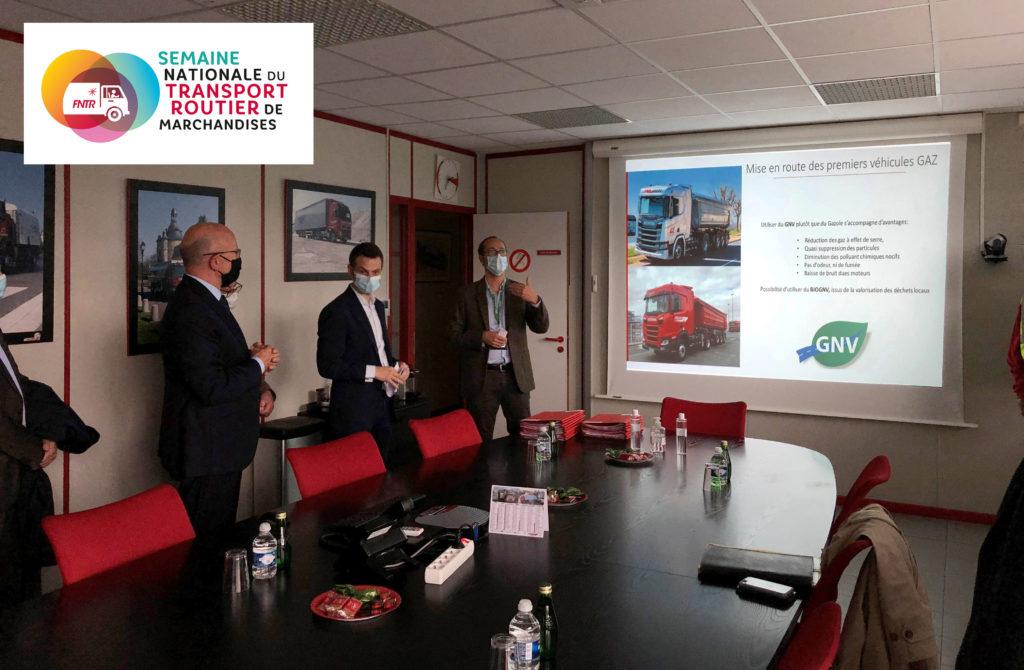 Présentation du BioGNV lors de la Semaine du transport routier de marchandises