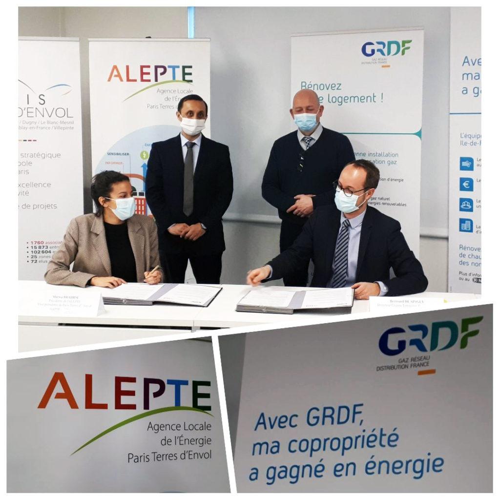 Signature de la convention entre GRDF et l'ALEPTE