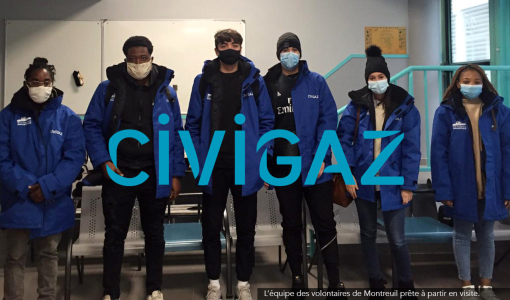 L'équipe des volontaires CIVIGAZ de Montreuil prête à partir en visite