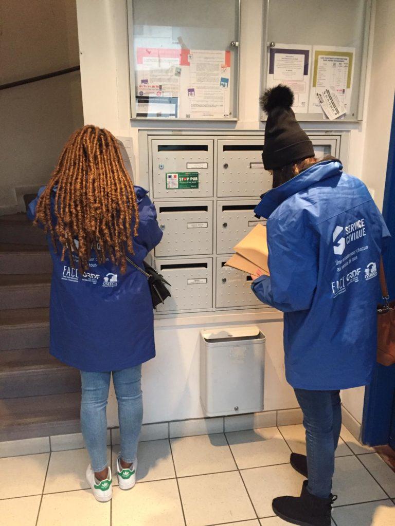 L'équipe des volontaires CIVIGAZ de Montreuil en action