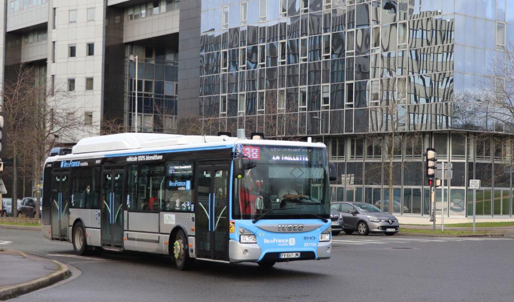 Bus biométhane BioGNV Cergy-Pontoise