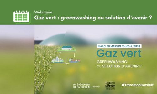 Webinaire «Gaz vert: greenwashing ou solution d'avenir?»