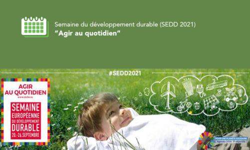 Semaine du développement durable (SEDD 2021)