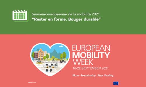 20e année de la Semaine européenne de la mobilité sous le slogan «Restez en forme. Bougez durable»