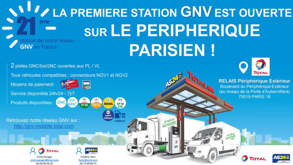 Première station-service GNV/BioGNV sur le périphérique (Paris, Île-de-France)