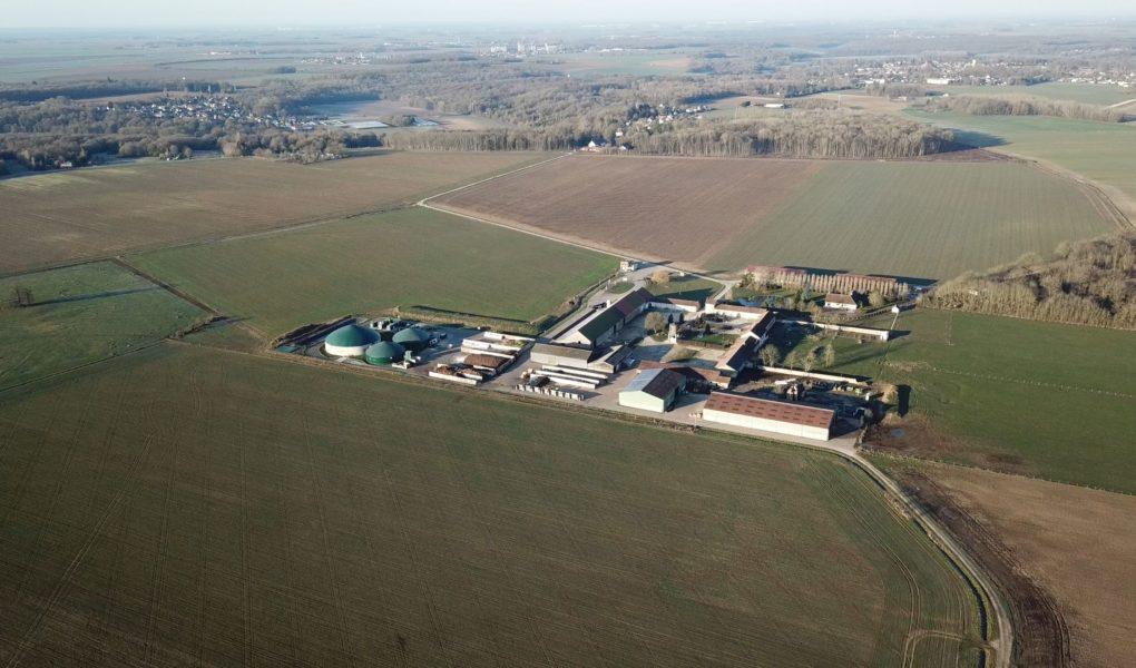 Le site de méthanisation Bioénergie de la Brie implanté à Chaumes-en-Brie, en Seine-et-Marne sur la ferme d'Arcy.