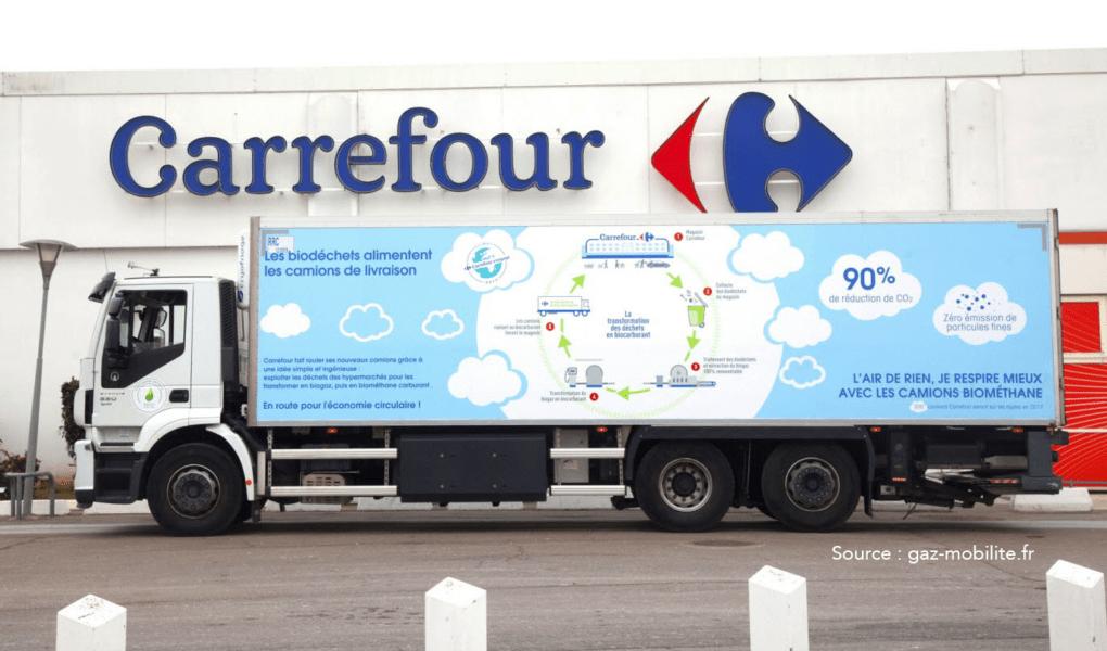Carrefour franchit le cap du 600evéhicule au BioGNC